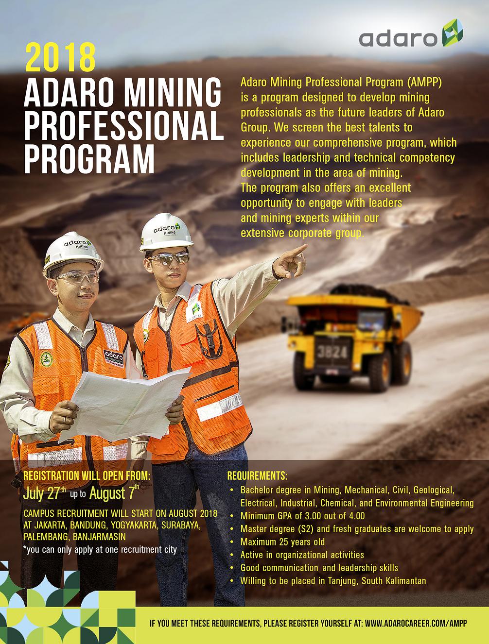Lowongan Kerja di PT Adaro Energy Juli 2017